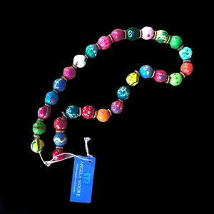 Angela Moore Peace & Love Classic Beaded Necklace